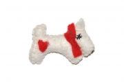 Tillie Heart Scotty Felt Dog Brooch