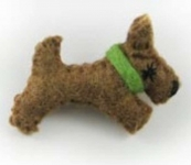 Tillie Scotty Dog Felt Brooch