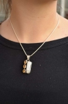 Triple citrine and Mother of Pearl Pendant