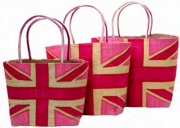 Gloriana Straw  Fairtrade Union Jack Beach or Shopping Bag