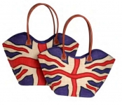 Brittania Straw Fairtrade Union Jack Handbag