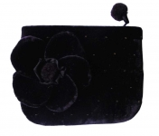 Vanessa Velvet Flower Purse