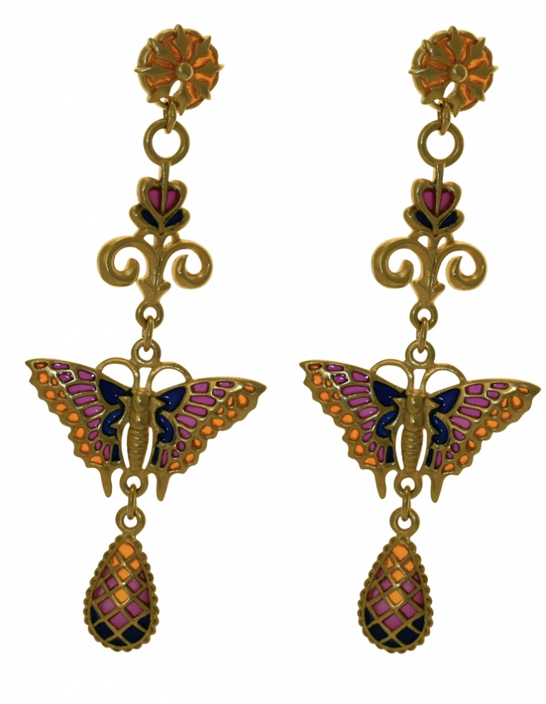 Butterfly Earrings on Gold Plated Butterfly Earrings   V A   The Victoria And Albert Museum