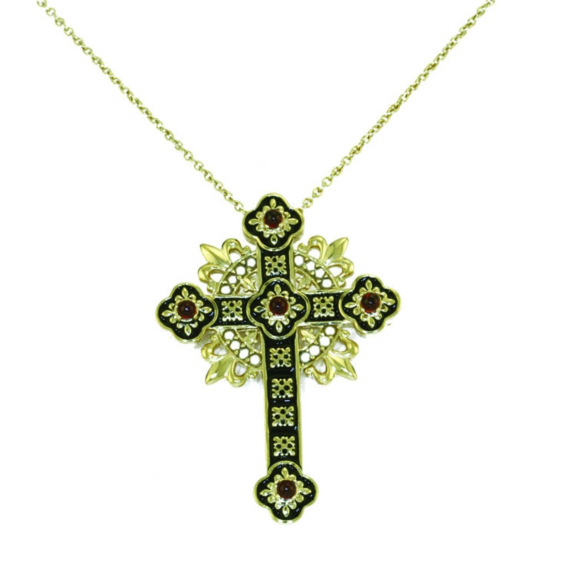silver pugin cross necklace brooch v a the