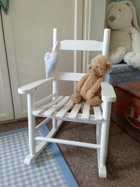 White Nursery Rocker White Wooden Nursery Rocking Chair White And