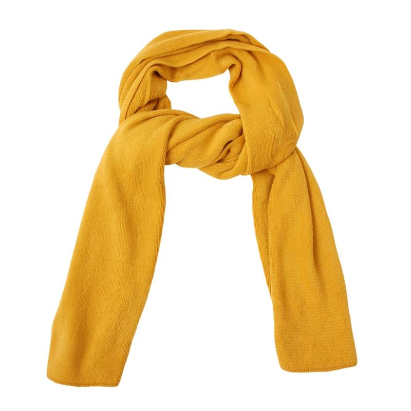 mustard yellow faux winter scarf 18108 fashion