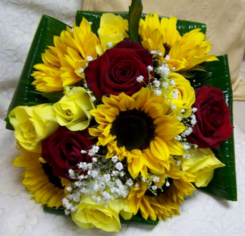 How to Make a Silk Sunflower Bouquet | eHow.com